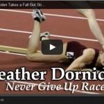 Atleta caindo durante corrida