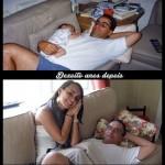 Pai e filha dezoito anos depois