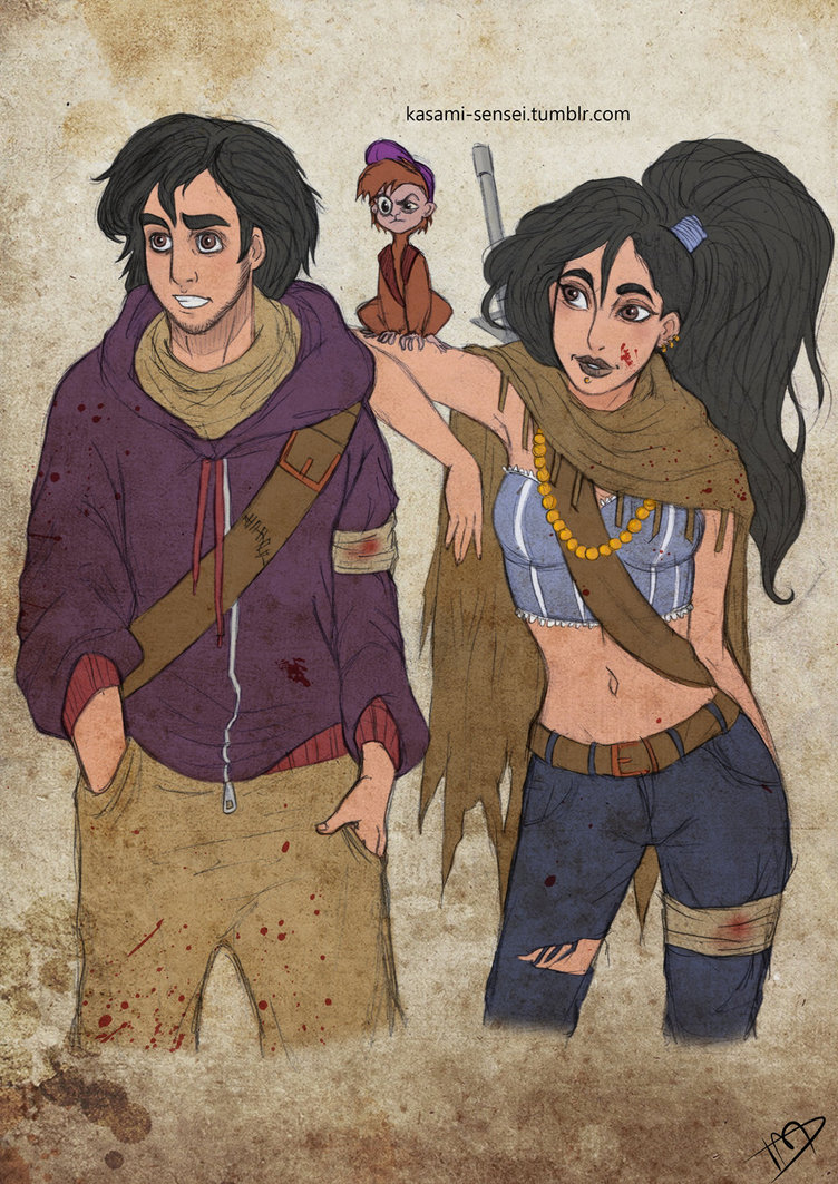 the_walking_disney___aladin__jasmine_and_abu